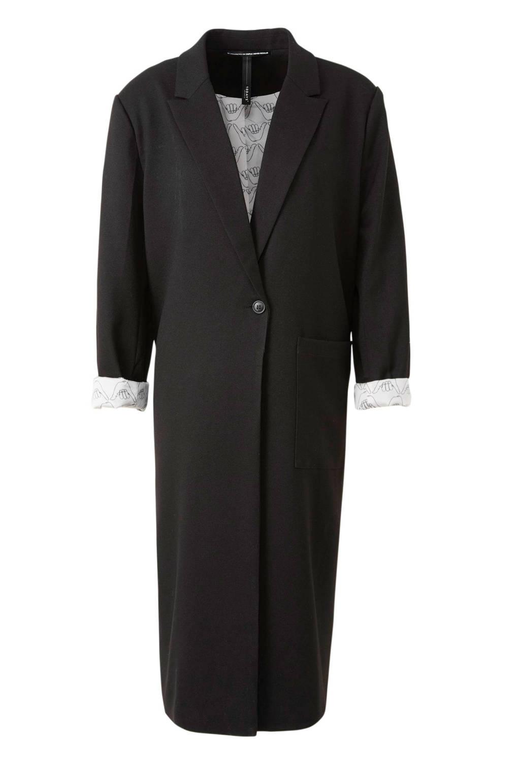 10DAYS coat zwart, Zwart