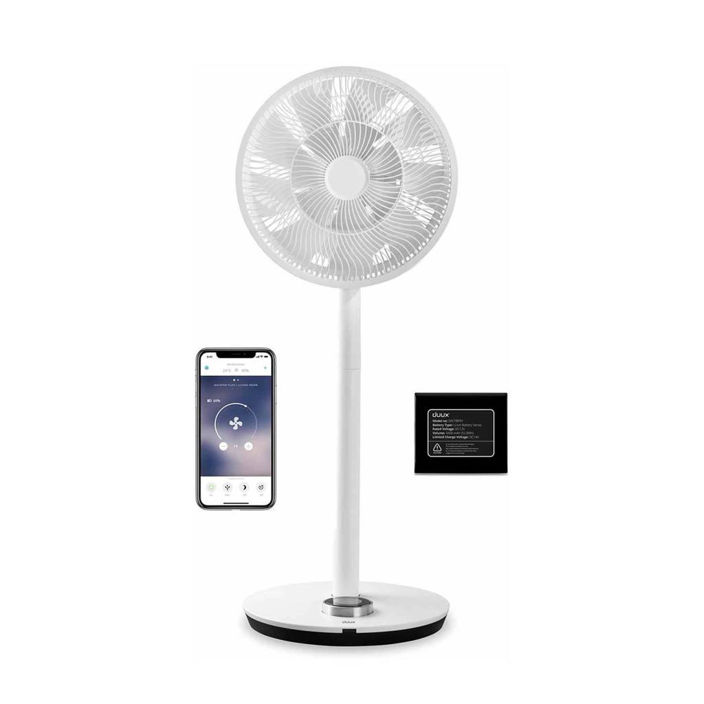 Duux Whisper Flex Smart ventilator (incl. batterij), Wit