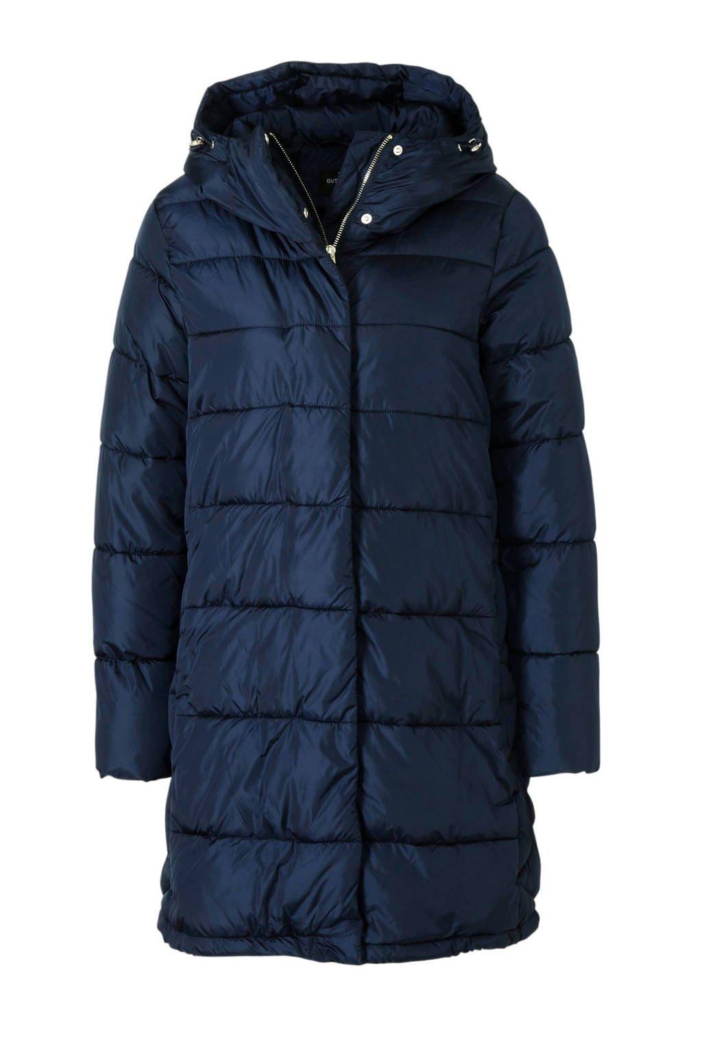 C&A Yessica gewatteerde winterjas donkerblauw, Donkerblauw