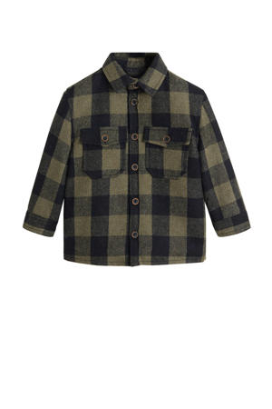 geruit overhemd grijs/zwart
