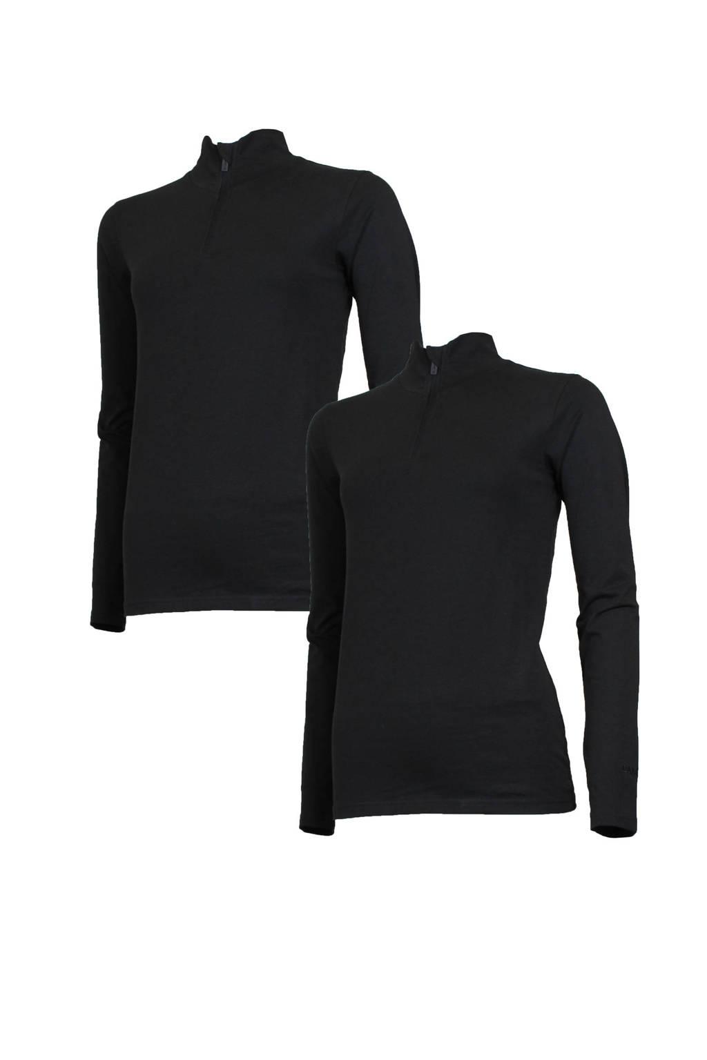 Campri sport T-shirt (set van 2) zwart, Zwart