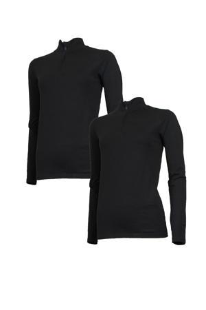 sport T-shirt (set van 2) zwart