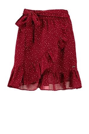 rok met stippen rood/wit