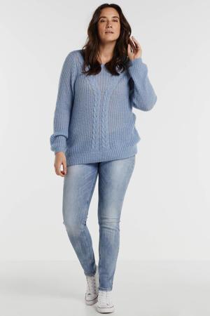 skinny jeans met studs blauw