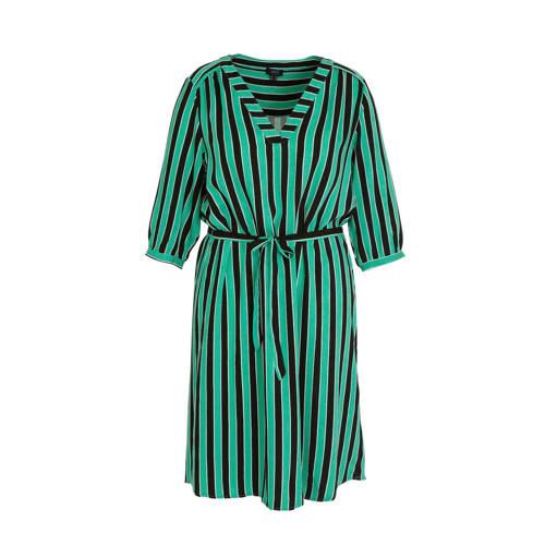 Yesta gestreepte jurk groen multi