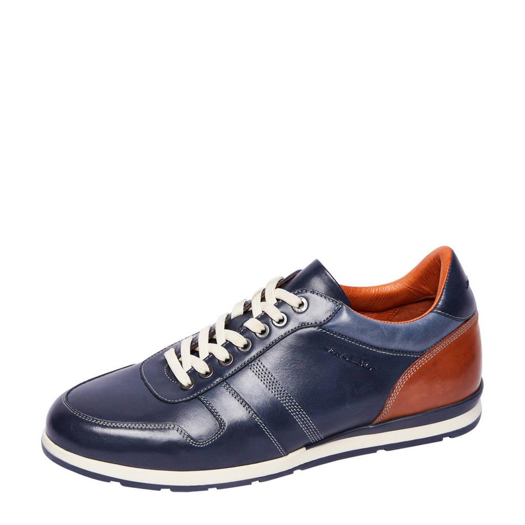 Van Lier   1953200 leren sneakers blauw, Donkerblauw
