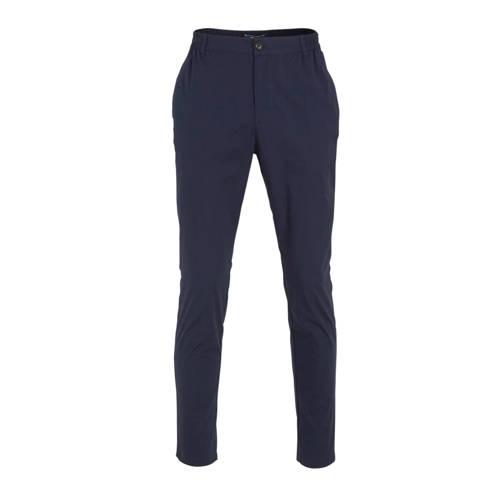 SUIT slim fit pantalon donkerblauw