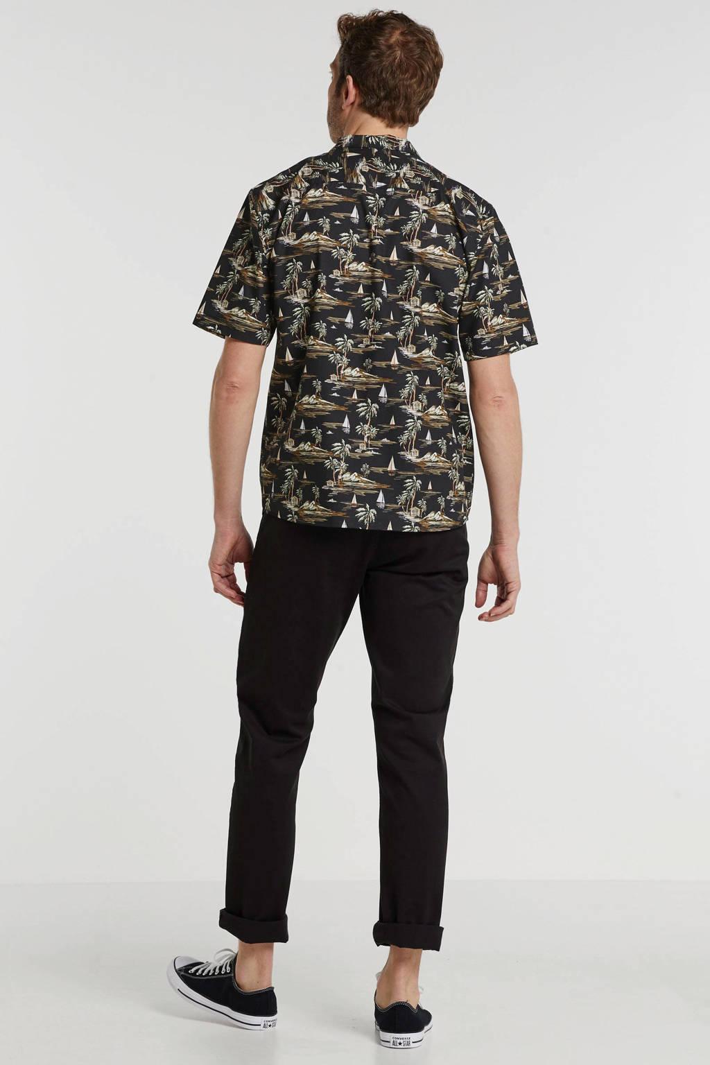 SUIT regular fit overhemd met all over print zwart, Zwart