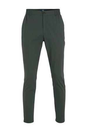 slim fit pantalon donkergroen