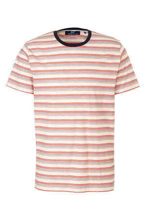 gestreept T-shirt wit/blauw/rood