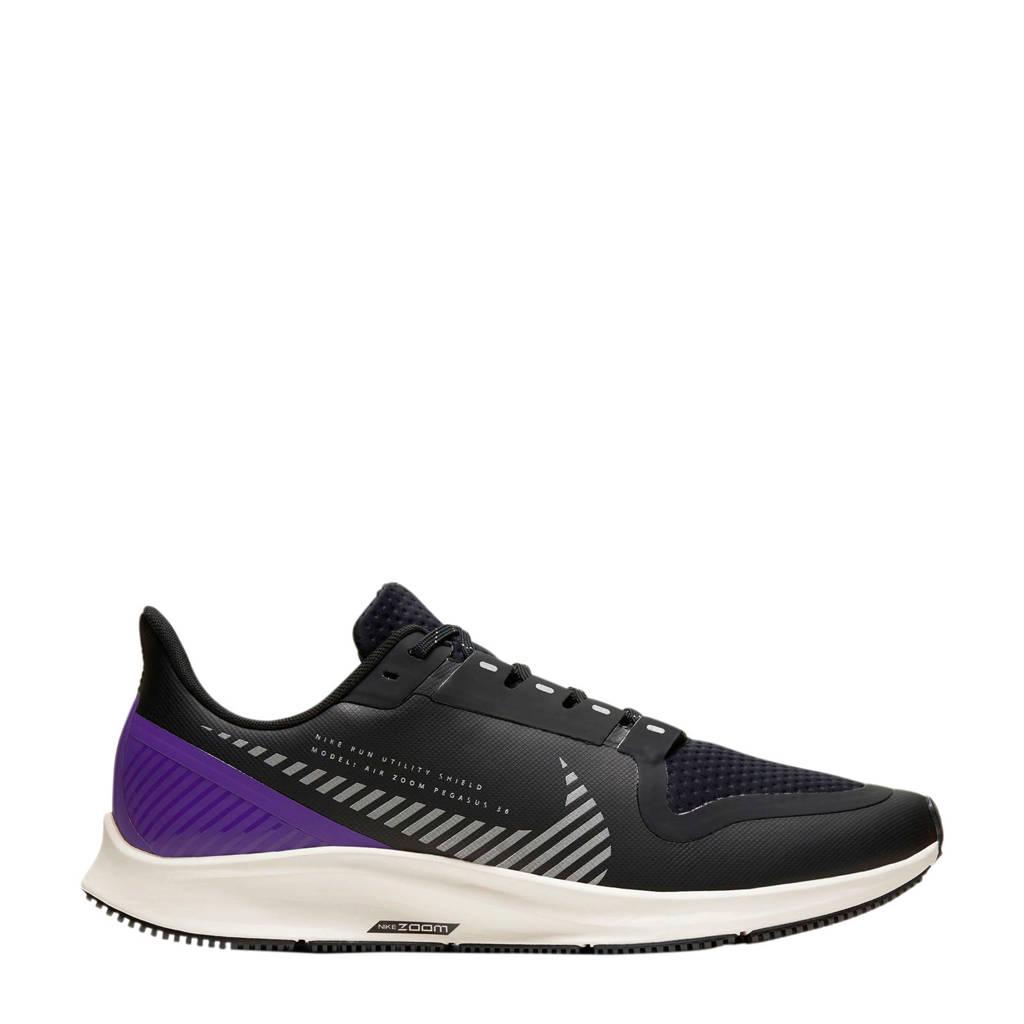 Nike Air Zoom Pegasus  36 Shield hardloopschoenen zwart/paars, Zwart/paars