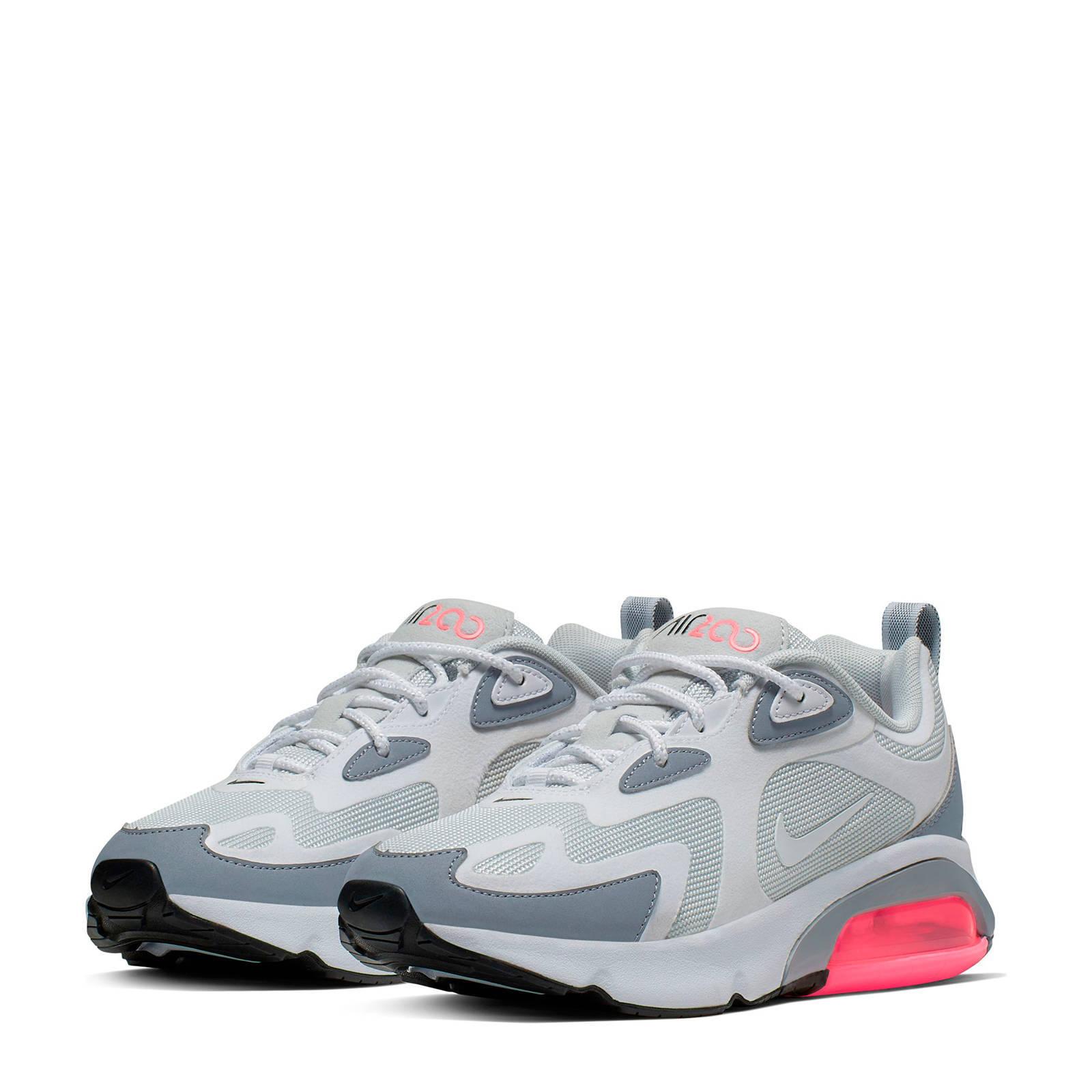Nike Air Max 200 sneakers grijswitroze | wehkamp
