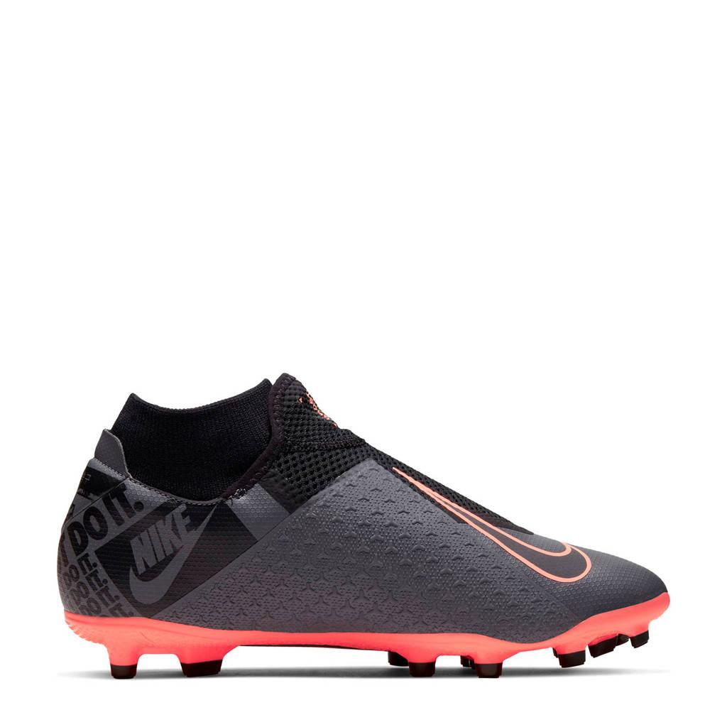 Nike   Phantom VSN Academy DF FG/MG voetbalschoenen, Antraciet/zwart/oranje