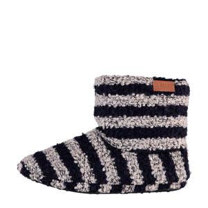 pantoffels blauw/grijs