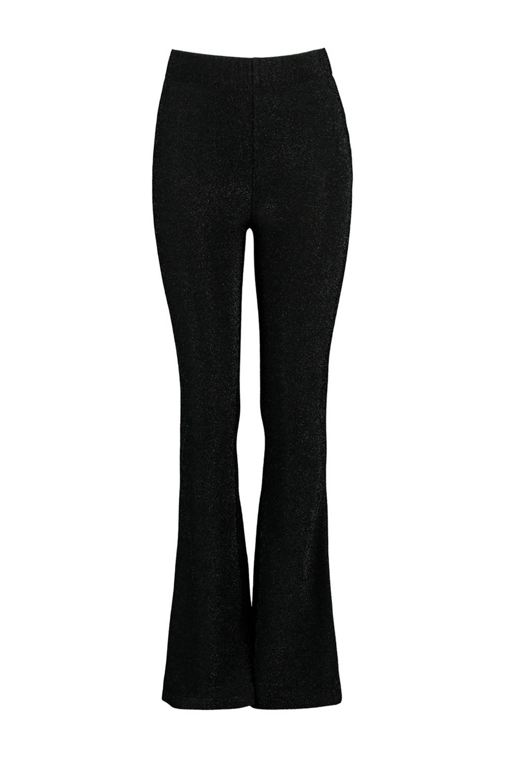 CoolCat Junior flared broek Pearl zwart/zilver, Zwart/zilver