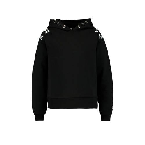 CoolCat Junior hoodie Suus met tekst zwart