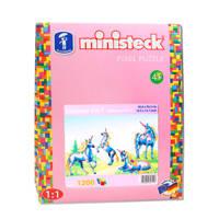 Ministeck Ministeck Eenhoorn, 1200 steentjes