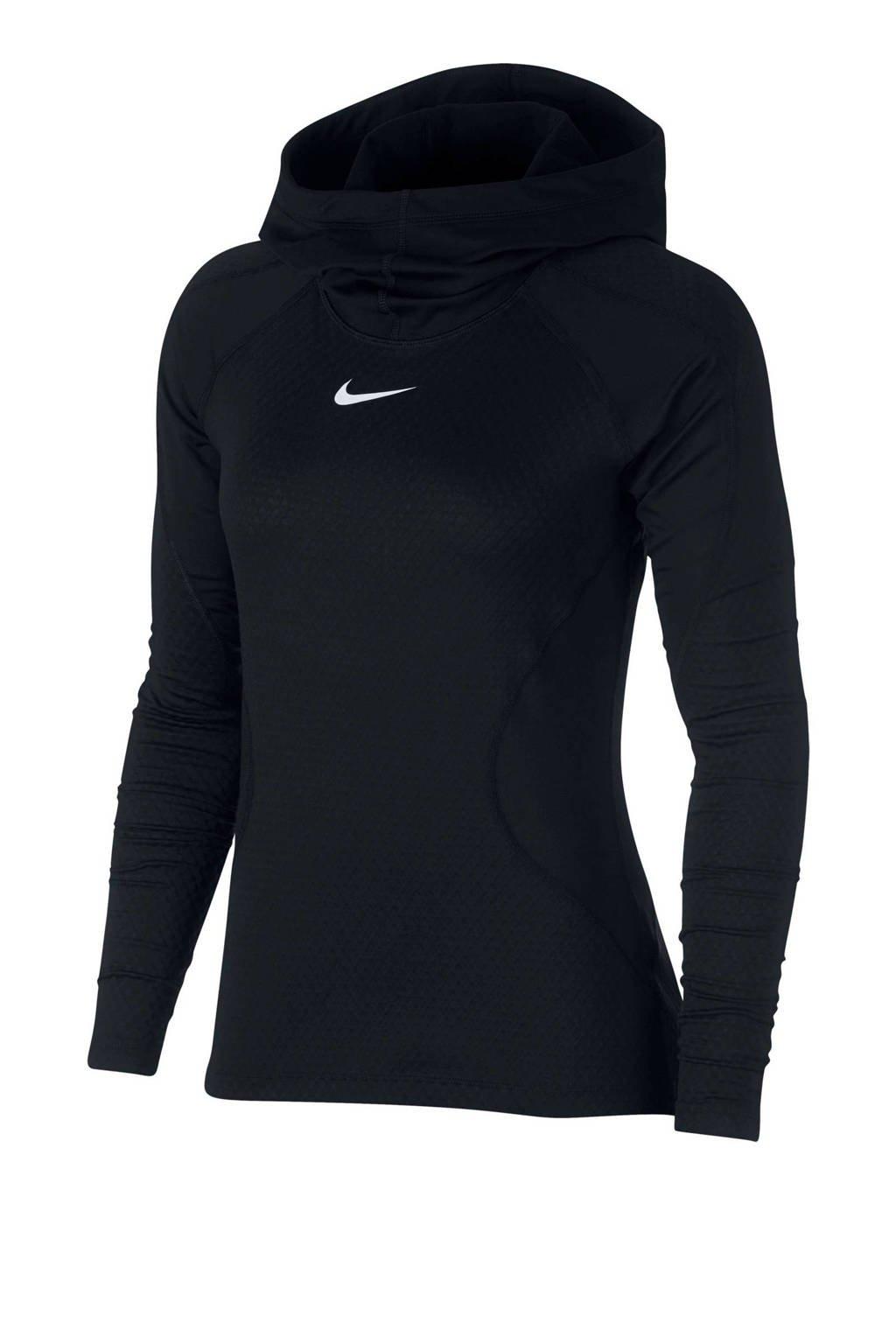 Nike Pro HyperWarm sportsweater zwart, Zwart