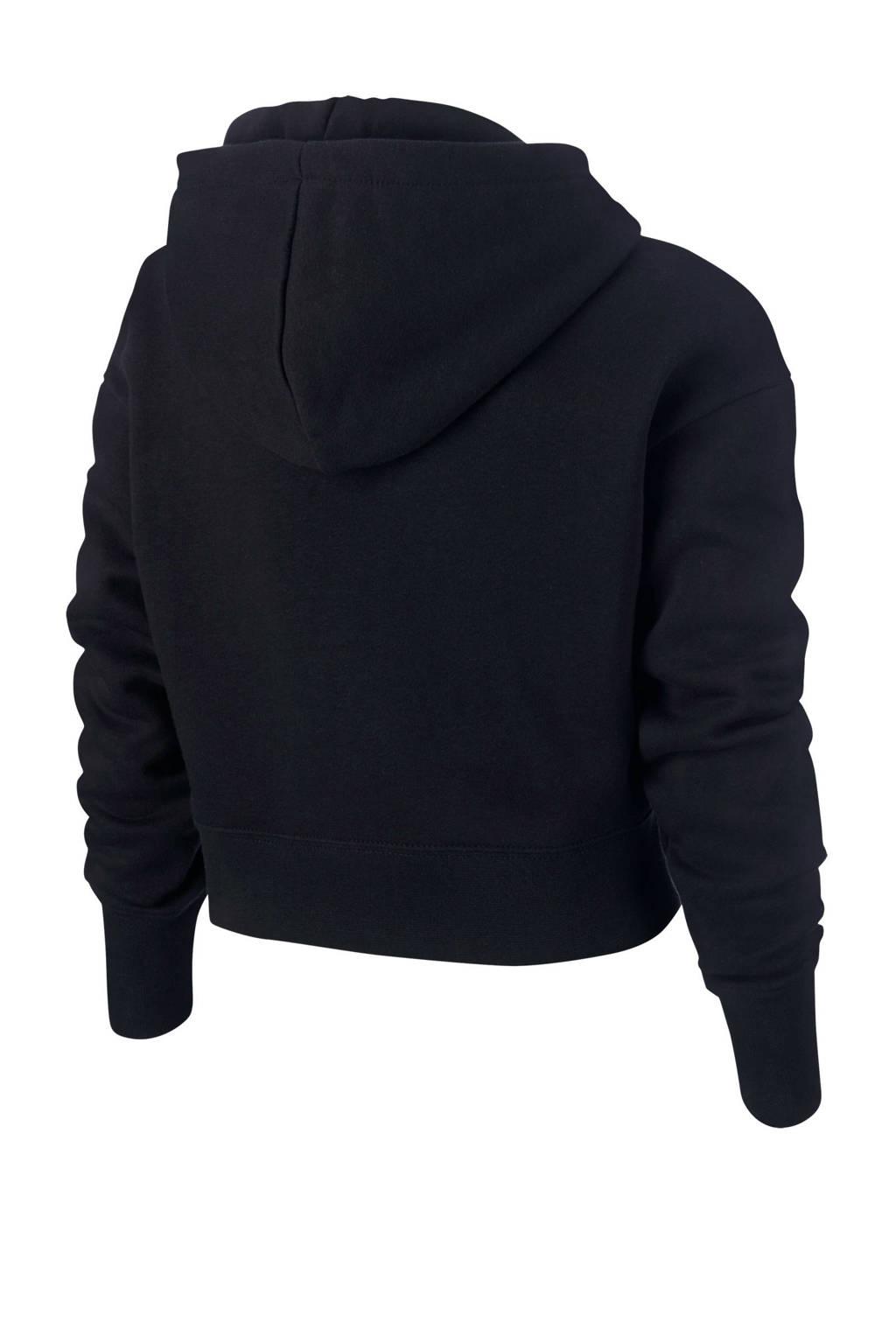 Nike hoodie met logo zwart, Zwart