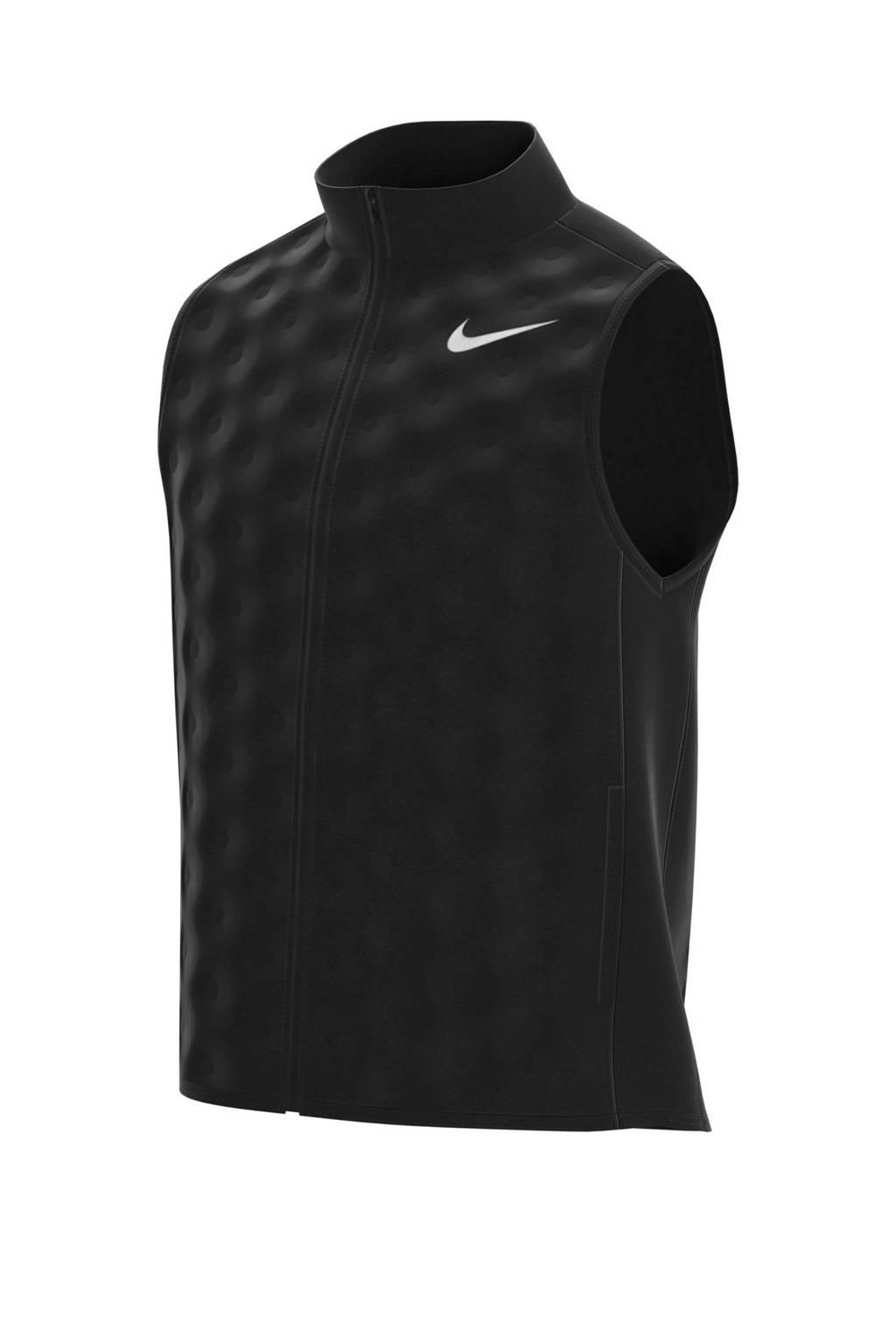 Nike   sport bodywarmer zwart, Zwart