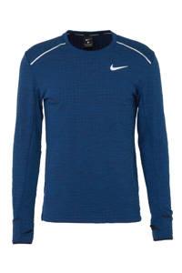Nike   thermo hardloop T-shirt blauw, Blauw