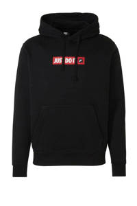 Nike   hoodie zwart/rood/wit, Zwart/rood/wit