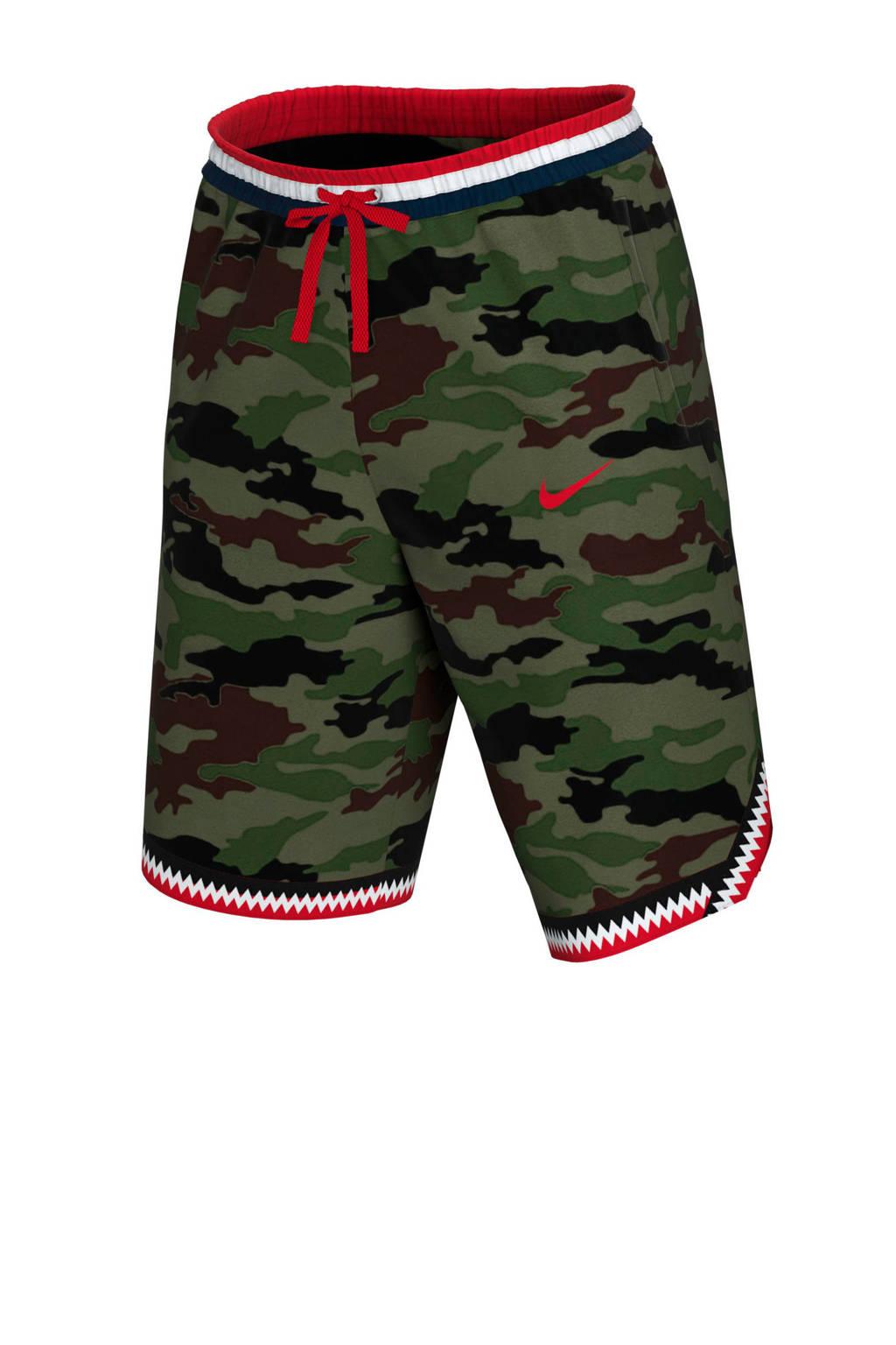 Nike   sportshort camouflage print, Groen