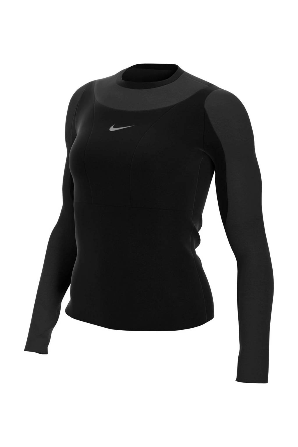 Nike Pro Warm sportshirt zwart, Zwart