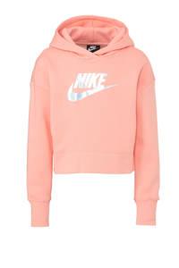 Nike cropped hoodie roze, Roze