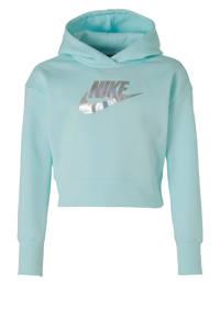 Nike cropped hoodie mintgroen, Mintgroen