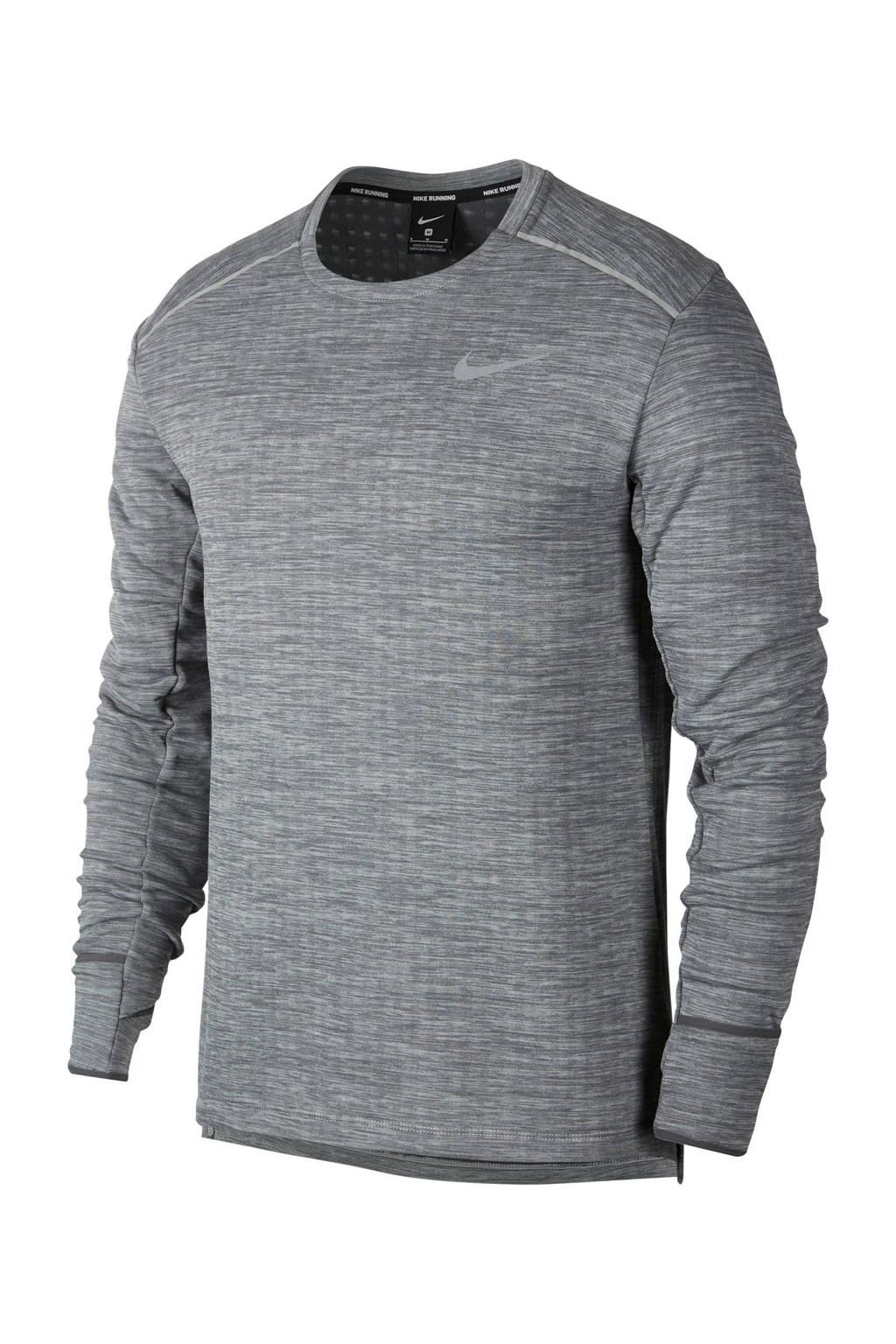 Nike   thermo hardloop T-shirt grijs, Grijs