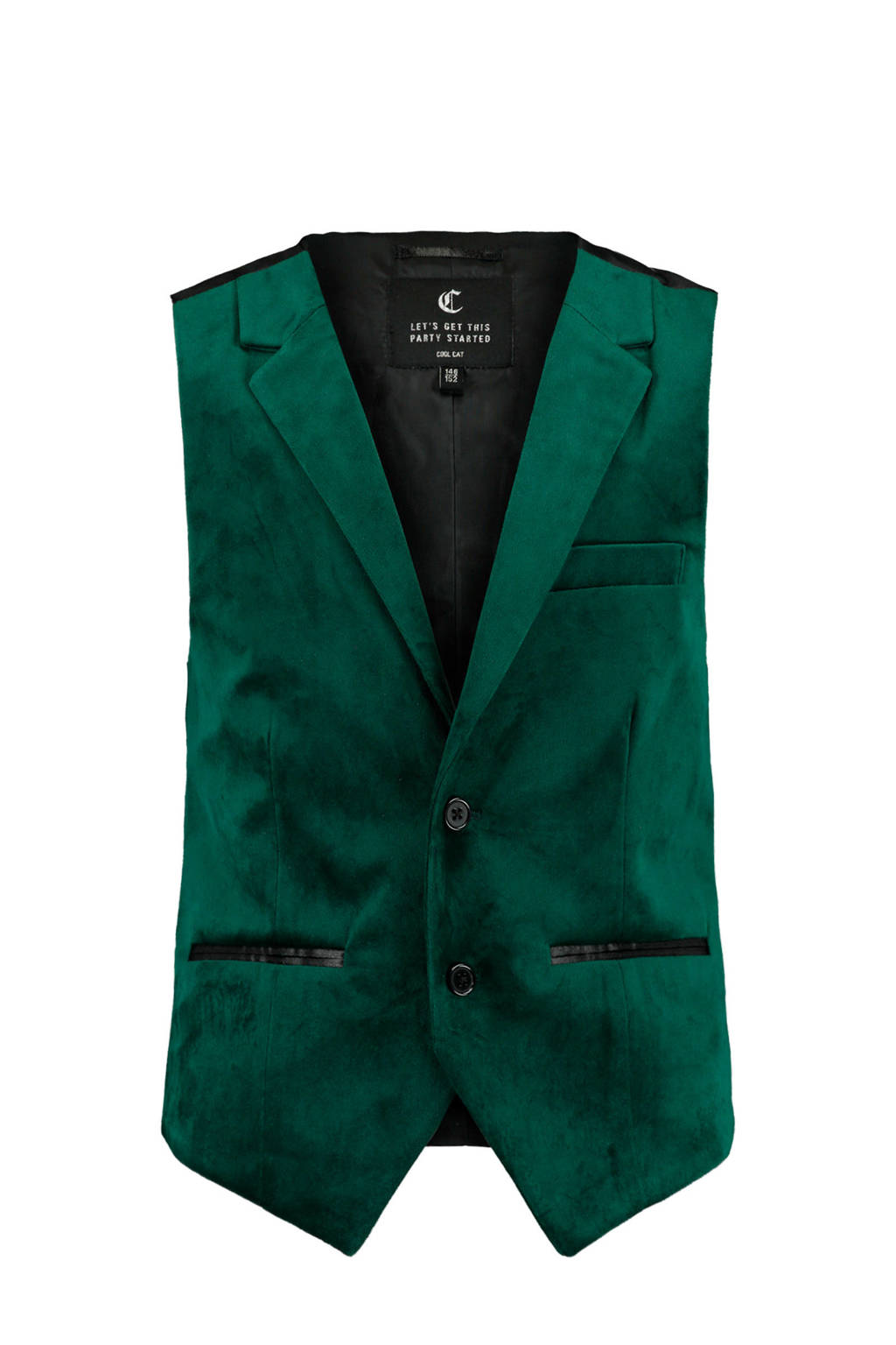 CoolCat Junior gilet Hugo groen, Groen