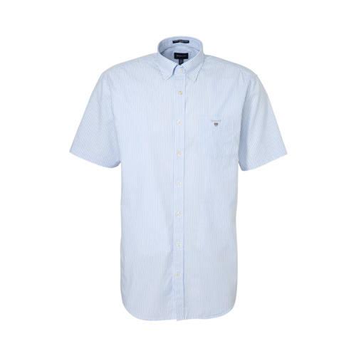 GANT gestreept regular fit overhemd blauw/wit