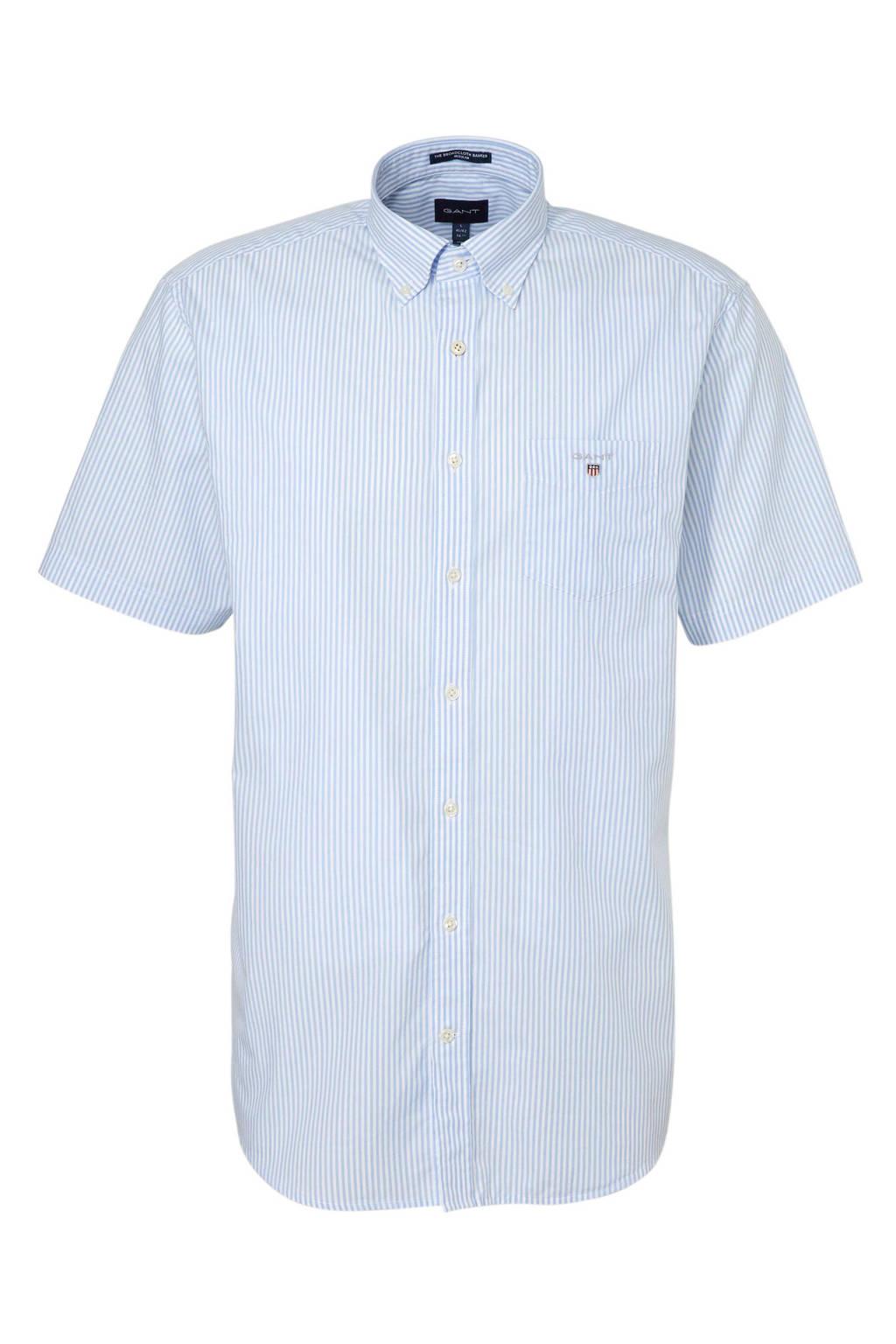 GANT gestreept regular fit overhemd blauw/wit, Lichtblauw