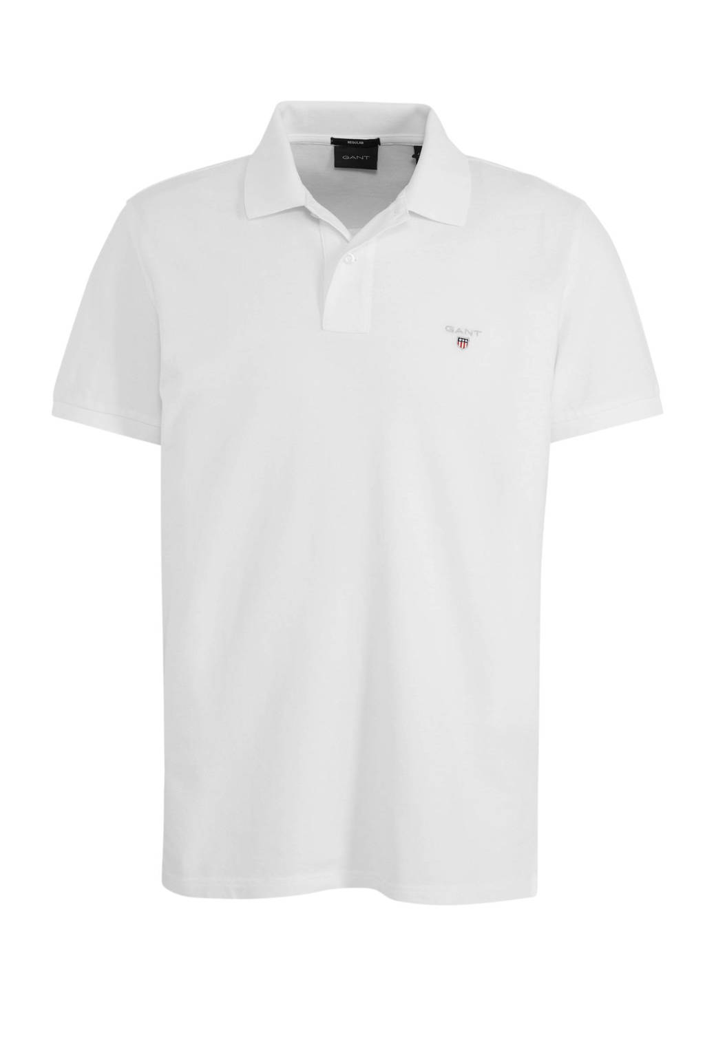 GANT regular fit polo wit, Wit