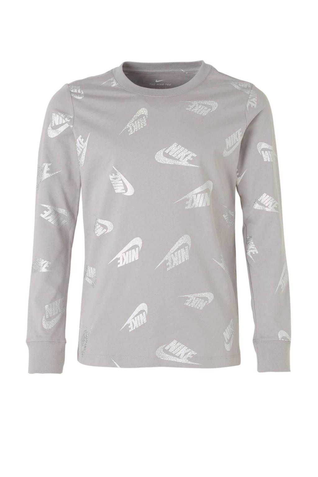 Nike   T-shirt grijs, Grijs/zilver
