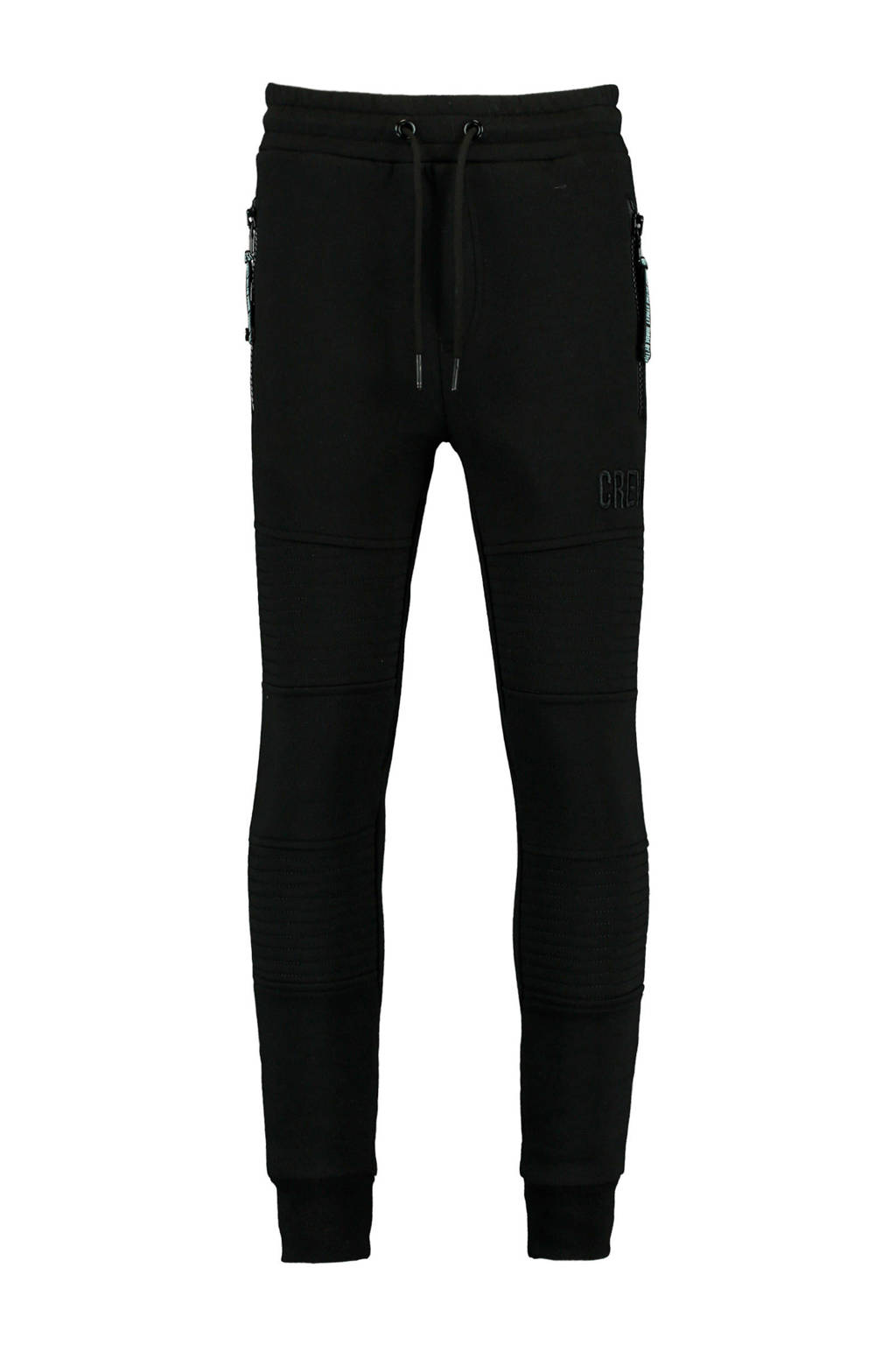 CoolCat Junior   skinny joggingbroek Clayton zwart, Zwart