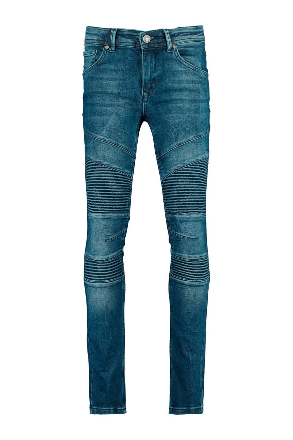 CoolCat Junior skinny jeans Koen met textuur blauw, Blauw