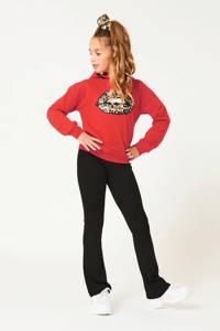 CoolCat Junior flared legging Pam zwart, Zwart