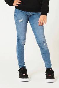 CoolCat Junior skinny jeans Katy met slijtage lichtblauw, Lichtblauw