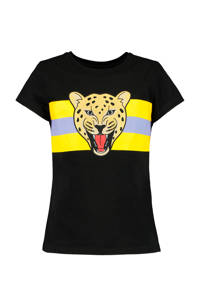 CoolCat Junior T-shirt Eva met printopdruk zwart, Zwart