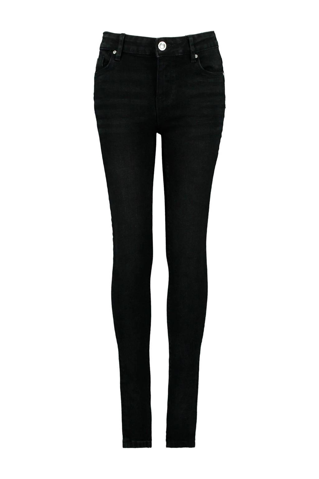 CoolCat Junior slim fit jeans Kaat zwart, Zwart