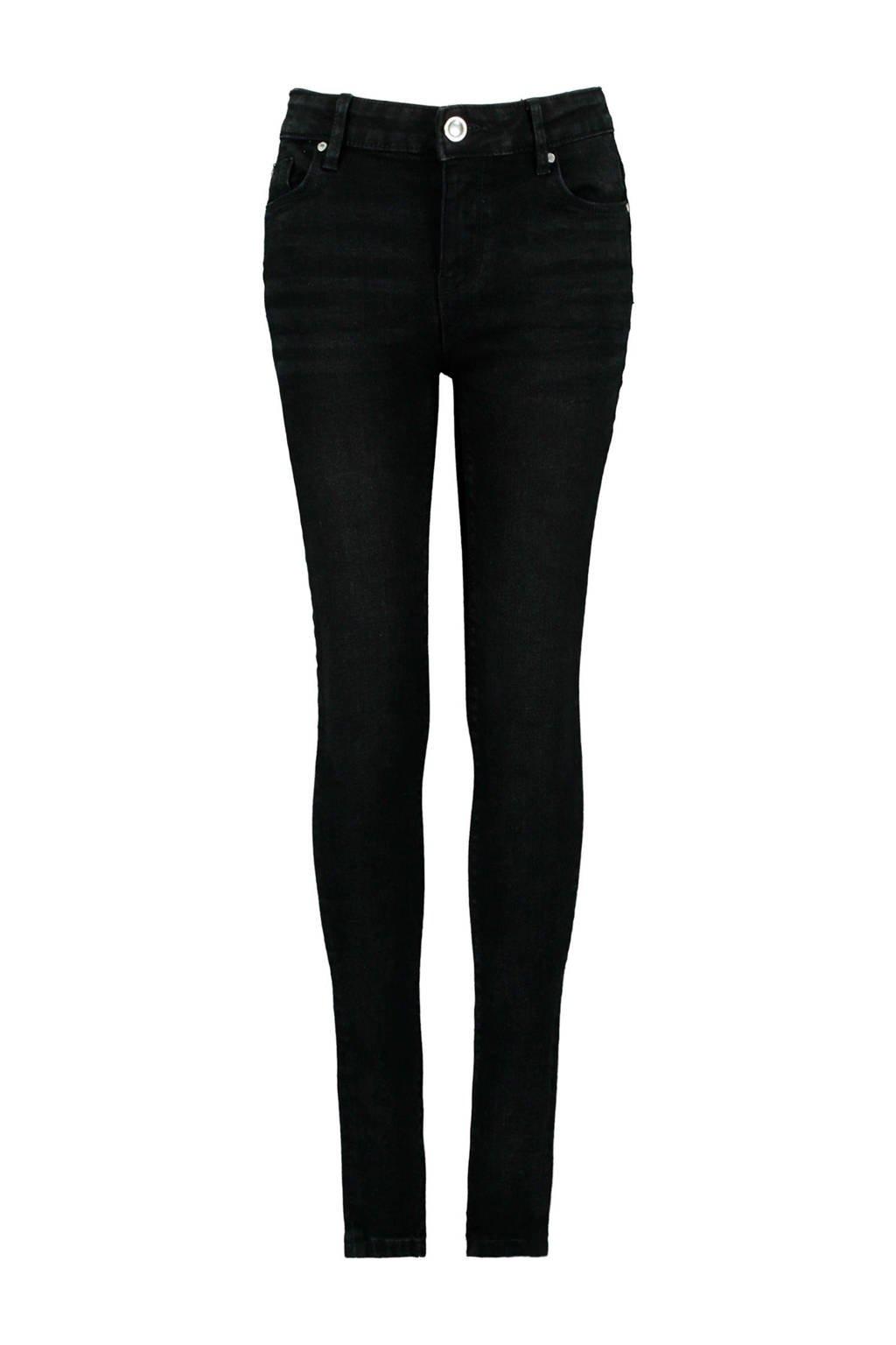 CoolCat Junior super skinny jeans Kaat zwart, Zwart