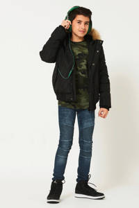 CoolCat Junior winterjas Jamal zwart, Zwart