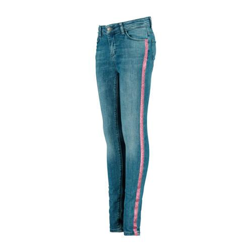 CoolCat Junior skinny jeans Katja met zijstreep bl