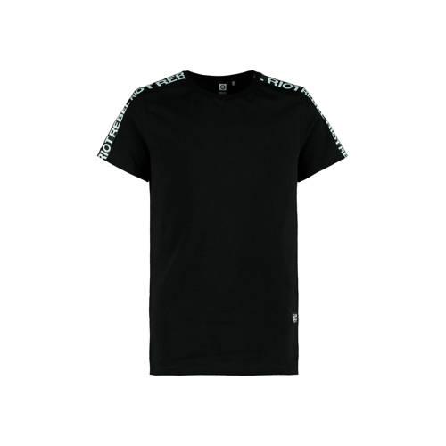 CoolCat Junior T-shirt Edson met contrastbies zwar