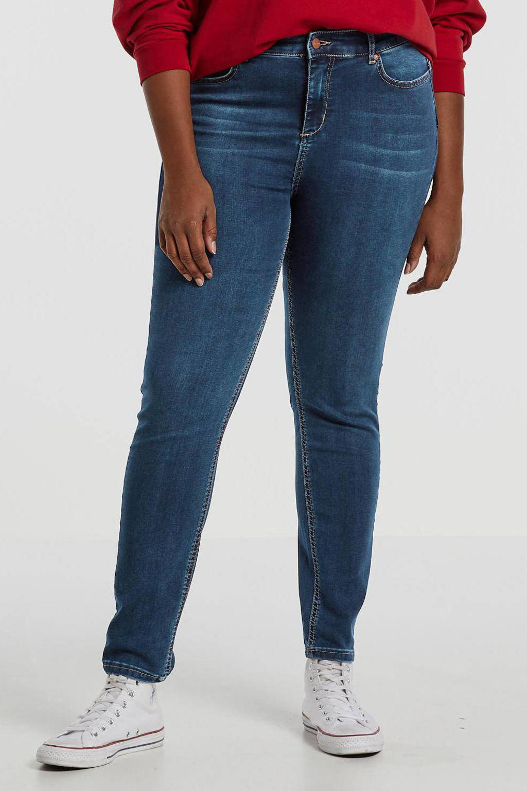 Yesta push-up slim fit jeans Joya blauw, Blauw