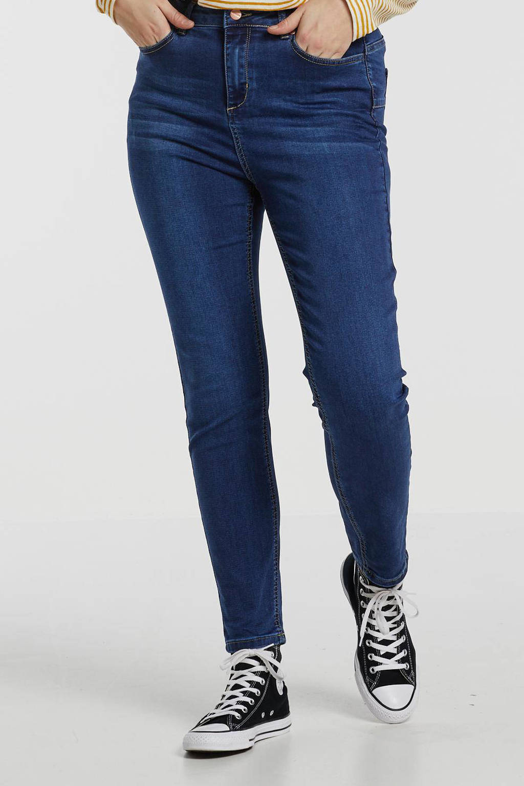Yesta push-up slim fit jeans Joya donkerblauw, Donkerblauw