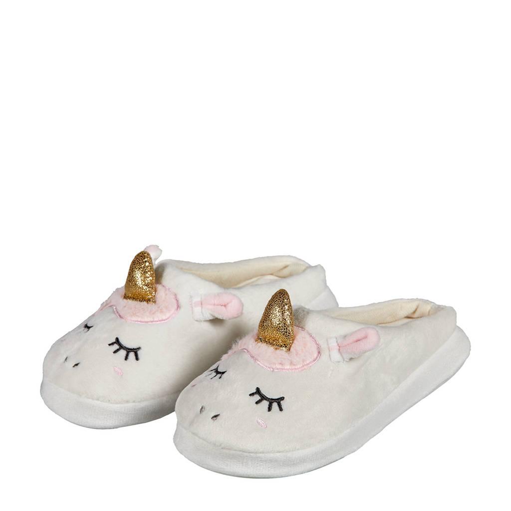 Apollo pantoffels unicorn wit, Wit