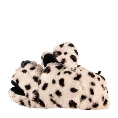 Apollo pantoffels hond wit/zwart kids